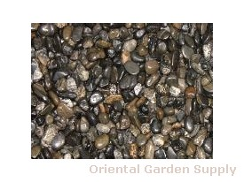 Polished Pebble-Black 1/4-1/2 inch