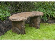 Cast Fossil Bench curved