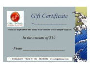 OGS Gift Certificate-$10