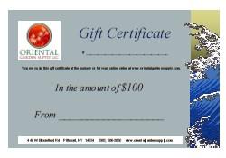 OGS Gift Certificate-$100