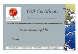 OGS Gift Certificate-$10