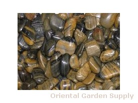 Polished Pebble-Striped 1/2- 1 1/2 inch