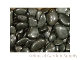 Polished Pebble-Black 1 1/2- 2 1/2 inch