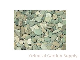 Seaside Beach Pebble-Green .5-1 inch